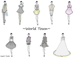 LBM Collection: World Town by GinchyCouture