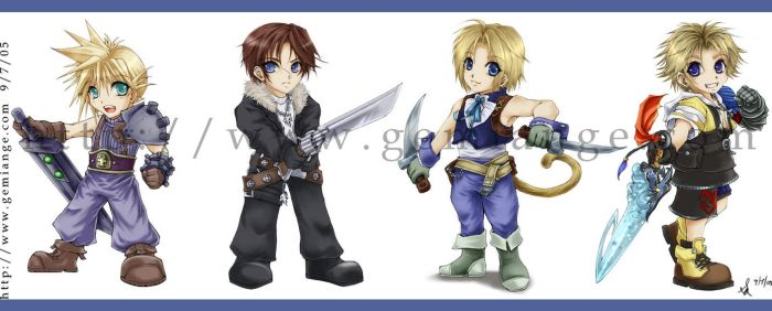+Final Fantasy Chibi Heros+ by gemiange