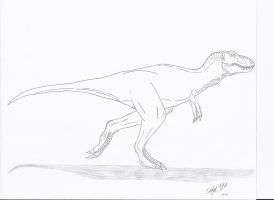 JP: Tyrannosaurus Rex No Color by Sinncrow