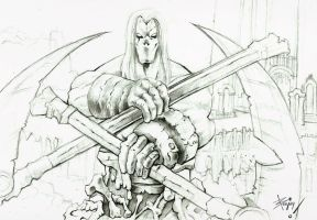 Darksiders2 sketch by artnerdx