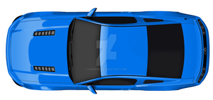Ford Mustang '13-'14 top view by RonvdS
