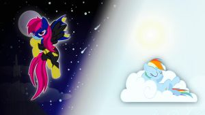 Rainbow Dash as Batmare - Night and Day by Joeycrick