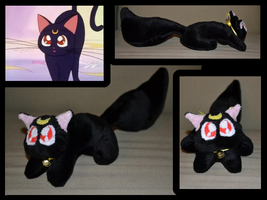 Luna Sailor Moon Cat Plush by Mlggirl