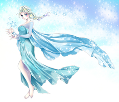 Disney's Frozen: Queen Elsa by Rurutia8