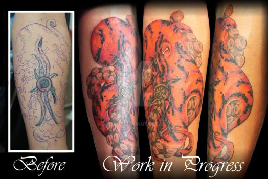 Octopus cover up by Nelipot