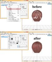 Fix the Hairs (Transparency Problem on MMD) by arisumatio