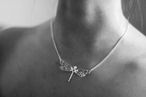 Nadia with Silver Dragonfly by MirielDesign