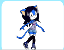 me as a sonic character by Blazelover600