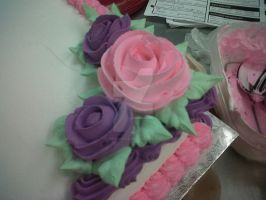 Pink and Purple Roses 2 by JunieNicole