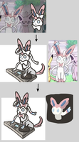 Drawing Sylveon (Progress) by PeekingBoo