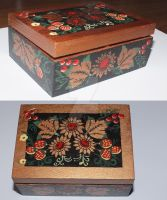 Casket in style hokhloma. by MytaBes