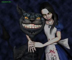 Alice and Cheshire by Dreamwatcher2011