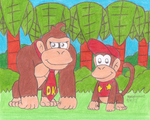 Donkey Kong and Diddy Kong by MarioSimpson1