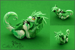Cayo Dragon - polymer clay by CalicoGriffin