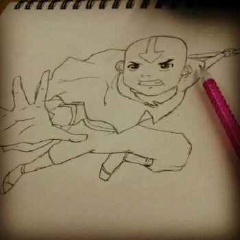 Avatar Aang by CheezeMufuns