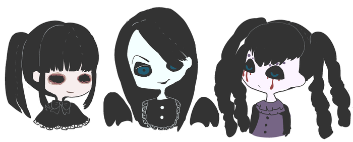Three Daughters of a Witch by akizato929