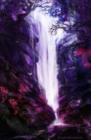Violet waterfall by iZonbi