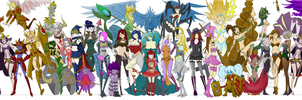 Colouring of League of Legend Girls by mrpineapple3