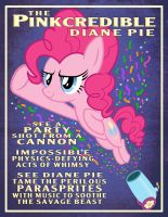 Pinkie Pie Party Cannon Circus Poster (Clean) by tygerbug