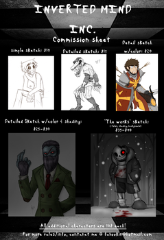 COMMISSION SHEET UPDATE! by Inverted-Mind-Inc