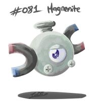 081 - Magnemite by Electrical-Socket