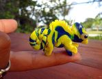Blue Marbled Chameleon by RabidPuppy101