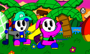 Golfing at Yoshi's Island by MarioSimpson1