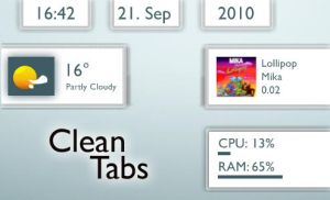 Clean Tabs 1.1 by TobiMcCan