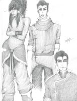 Legend of Korra Sketches~~ by Kyaa-L