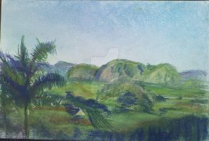 The Mountains of Vinales Valley, Cuba by LilithVallin