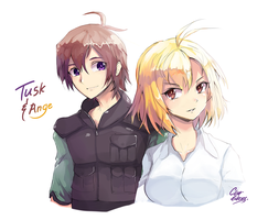 Cross Ange : Tusk and Ange by ClearEchoes