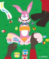 Misadventure time for Easter Bunny by mamei799tickle