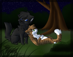 Crowfeather x Leafpool by Ichigokki