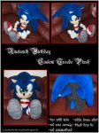 .:+Birthday Tux Sonic Plush+:. by Blue-Sonikku