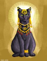 Bastet, cat Goddess (Mythical cats series ) by Helsic