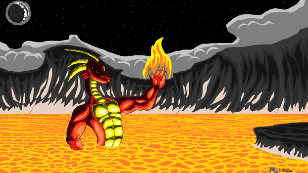 Lava Dragon Stage 3 [Finished] by Frostridge-Dragoone