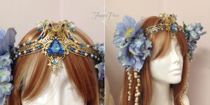 Periwinkle Art Nouveau Headdress by Lillyxandra