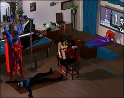 Harley's Slumber Party, Full View 1 by Sleeper77
