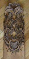Hand Carved Skateboard by HandFedGraphics