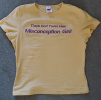 Misconception Girl T-shirt by Aura3107