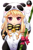 Cute chibi panda - Cinia Pacifica render by ShinkuNekita
