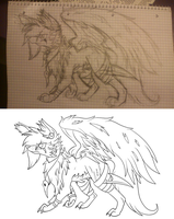 -WIP- A warrior Wolf by NewMoon-Dragoness