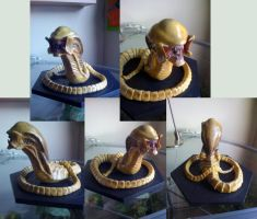 Hybrid_Chestburster_sculpt by skinnydevil