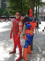 Red Arrow and Deathstroke by Bluebird0020