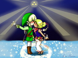 Comission Link and Tetra kiss by Spirit-Zelda97