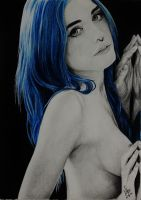 Yuxi Suicide drawing. Suicide Girl. by AitorLicantropo