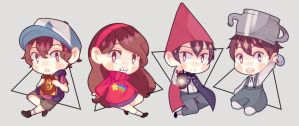 Gravity Falls and Over the Garden Wall by BottleWonderland