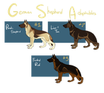 German Shepherd Adoptables OPEN by SpytDragonFyre