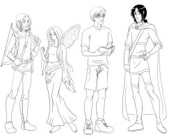 C and C: Character Line Up by DoomGirlMeg