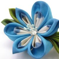 blue orchid barrette by offgenemi
